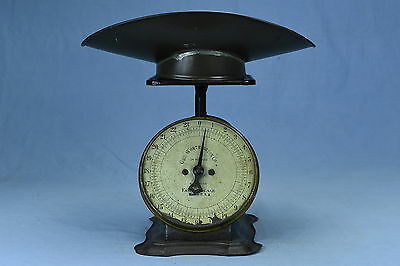 Antique ADVERTISING GEO WORTHINGTON FAMILY SCALE with SCALE PAN CLEVELAND #21A