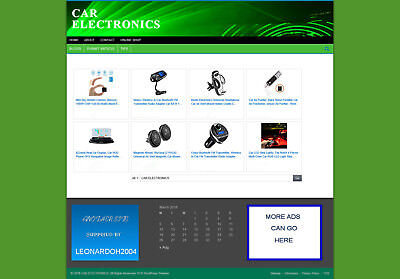 Car Electronics Store - Affiliate Website - Hosting - Blog Pages - Free Domain