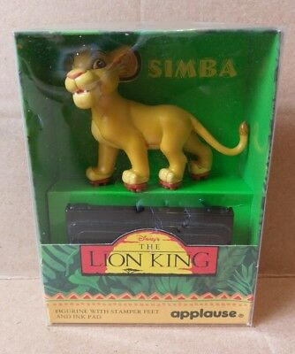 NEW Disney The Lion King Simba Figurine Stamper Feet Stamp Ink Pad Applause RARE