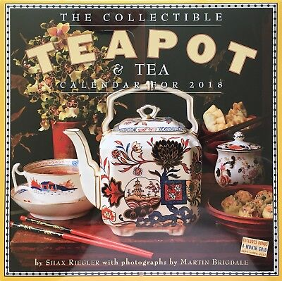 "2018 The Collectible Teapot & Tea Wall Calendar 12"" X 12"" New / Sealed"