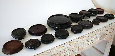 A GROUP of 16 Beautiful OLD CHINESE Carved HARD WOOD Stands LOT 3b