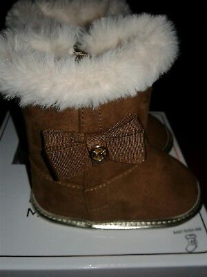 807693684827 Michael Kors Baby Baba 888 Infant Girls Boots in Camel, size 1 (6 weeks