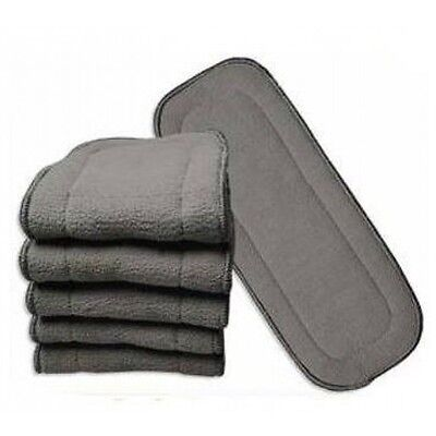 8x Bamboo Charcoal 5 layer nappy inserts - reusable for MCN's