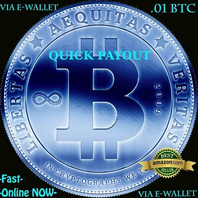 Quick Payout BTC - .01 BITCOIN Instantly - .1 Bitcoin Cash - LITECOIN - Fast!!