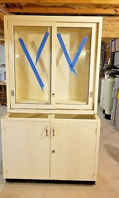 Vintage Solid Steel Apothecary Cabinet
