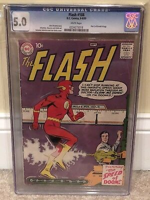 The Flash #108 CGC 5.0 Grodd Trilogy Pt. 3!  White Pages!