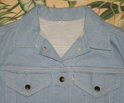 Vtg Womens LEVIS BIG E Denim Jacket For Gals Medium S/M