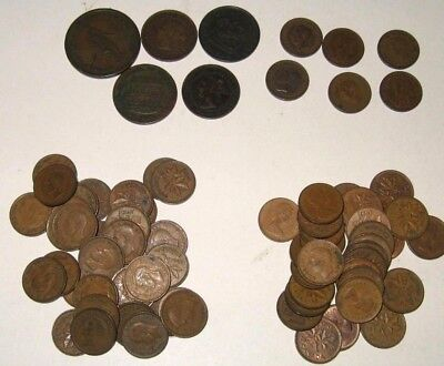 Canadian Canada Penny Collection 1837 - 1980 Small Large Half Cent