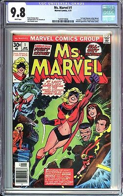 Ms. Marvel 1 CGC 9.8 White Pages