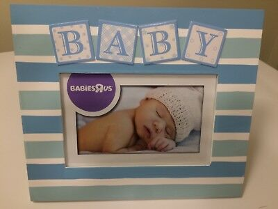 Picture Frame Baby Boy Blue Super Cute for Brand New Baby 4x6 NEW!!!