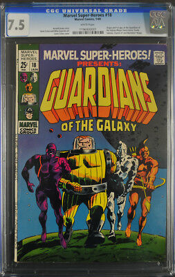 Marvel Super Heroes #18 CGC 7.5 - W.Pages (1st App. of Guardians of the Galaxy)