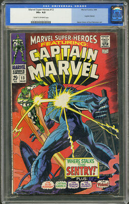 Marvel Super Heroes #13 CGC 4.5 - Cream to OW Pages (1st App. of Captain Marvel)