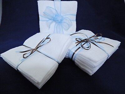 Batting Fabric 10in by 10in Die Cut 20 Squares 100% Cotton