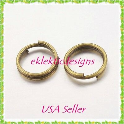 8mm 100pcs Antique Brass Bronze Split Dbl Jump Rings Jewelry Findings Earrings