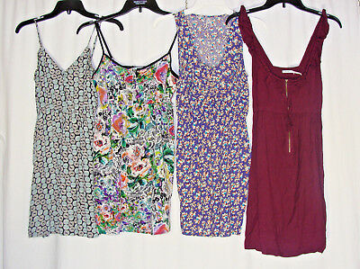 Lot of Four 4 Women's Size Small Dresses Sun Tank Summer Fit Flare Casual Floral