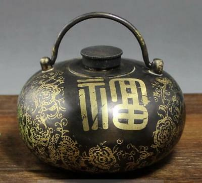 China's exquisite hand-carved brass blessing hand warm hand furnace
