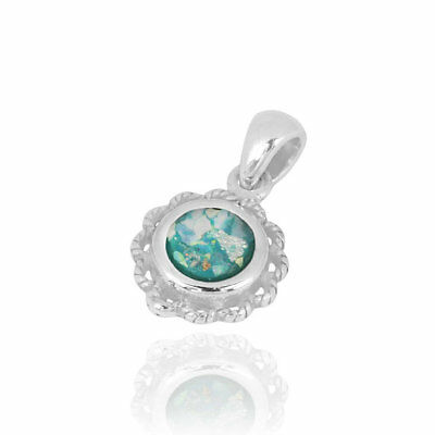 925 Sterling Silver Pendant With Ancient Roman Glass Amazing Jewelry great Gift