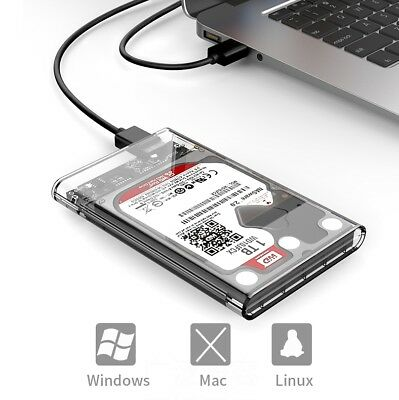 ORICO 2.5inch HIGI SPEED Transparent 5Gbps USB 3.0 Sata 3.1HDD Case Enclosure