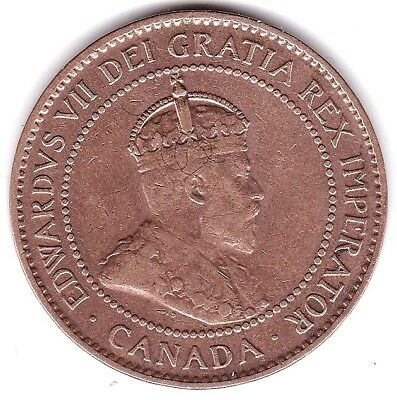 Canada. Canadian Coin Large Cent 1907 H  Rare Date