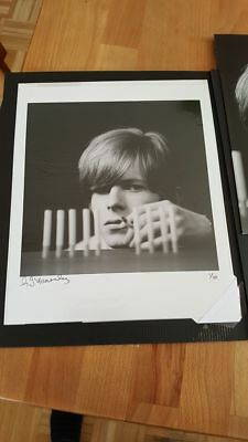 David Bowie signed Gerald Fearnley Photograph Snap Galleries No. 1/10 9x9 inch