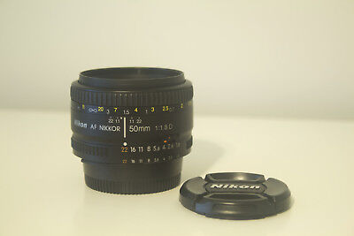 Nikon Nikkor 50mm f/1.8 AF D Lens AS NEW MINT CONDITION