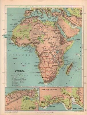A scarce Stanford's c1889 map of Africa