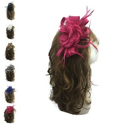 Ladies & Women Occasion Wedding Hat Fascinator Races Royal Ascot Clip & Headband