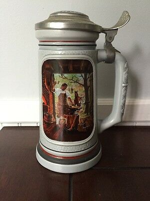 """AVON - THE BUILDING OF AMERICA COLLECTION - """"THE BLACKSMITH"""" Lidded Beer STEIN"""