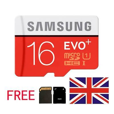 Samsung 16GB Micro SD SDHC EVO UHS-I Class 10 TF Memory Card with Free Adapter