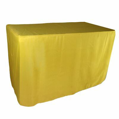 Doolova 6FT Fitted Yellow Wholesale Polyester Table Cover Wedding Banquet Event