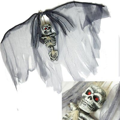 Groß Wandbehang Angel Of Death Halloween Totenkopf Requisite Party Skelett