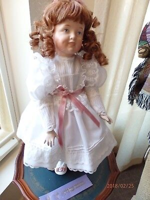 Reproduction antique Simon & Halbig 7 1/2 doll painted eyes/teeth 17 inches(43cm