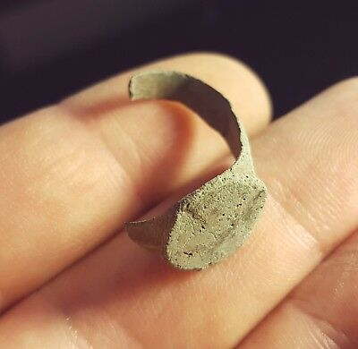 Ancient Late Roman Bronze Ring Fragment 300-400 AD #VGY14