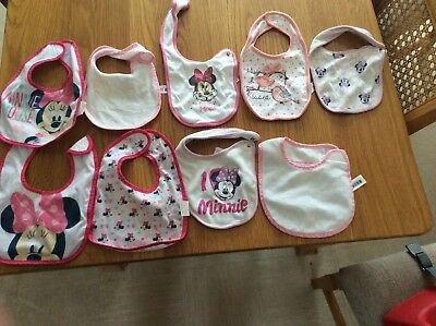 Baby Girl Bibs Bundle 0-12 Months from Mothercare and Next