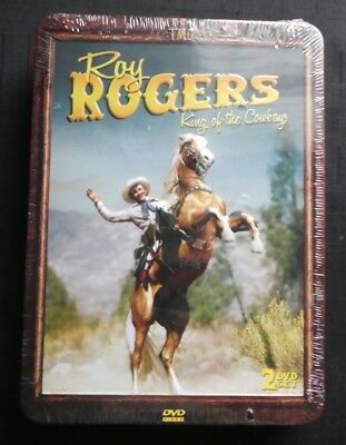 Roy Rogers King Of The Cowboys 2 Dvd Set, New, In Factory Sealed Tin Container