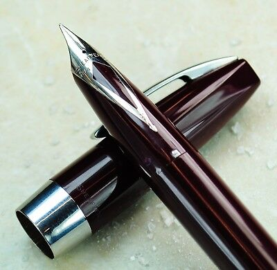 Restored Sheaffer Excellent Burgundy Pen For Men I (PFM I) Extra Fine Point