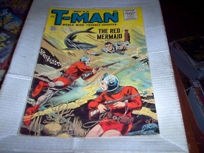 T-Man # 33 Anc 1955 World Wide Trouble Shooter Rare Comic Look Fn-