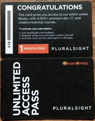 Pluralsight PLUS Membership (1 Month) (ONE month)