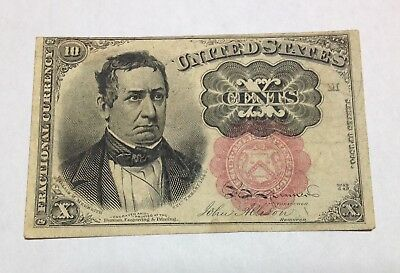 1874/1876 - 10 CENT - FRACTIONAL CURRENCY   ( 5th ISSUE, RED SEAL, LONG KEY )