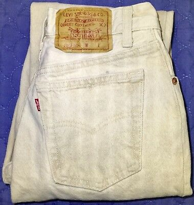 Vintage Levi's Women's 501 17501 Button Fly High Waist Mom Jeans 80s Sz 25