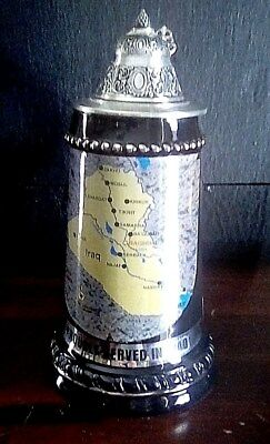 King Stein (Proudly  Serverd In Iraq )  with map  9 .25 inches