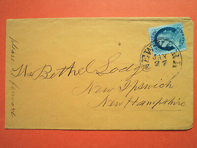 USA 1857 Scott #24 on Cover -from New York to New Hampshire