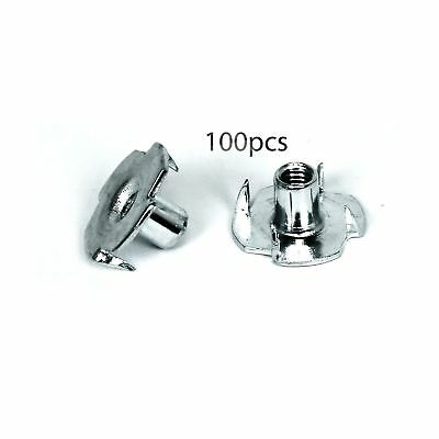 """TCH Hardware 100 Pack Steel 4 Prong T Nuts 10-32 Thread by 5/16"""" Inch - Tee B..."""