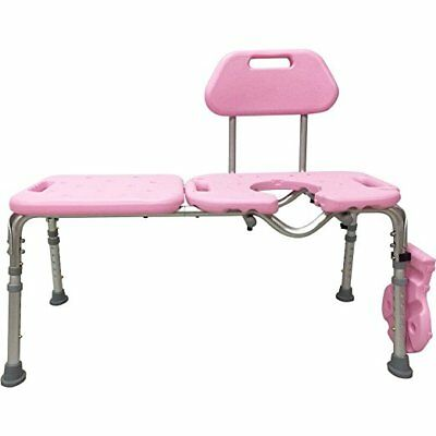 Bath Transfer Bench with CUTOUT Deluxe Chair Tub Shower Transfers PINK # PCR5600