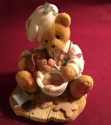 "Cherished Teddies Sugar and Spice ""Spoonfuls of Sweetness""    1998 Figurine"