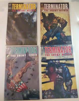 """Terminator """"the Enemy Within"""" Complete 4 Issue Mini Series. Dark Horse.1991"""