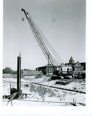 Vintage 8x10 Photo Marion Power Shovel 93M at work Battery Place NY