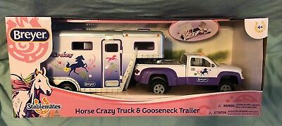 Breyer Stablemates #5369 Purple Horse Crazy Truck and Trailer! New In Box