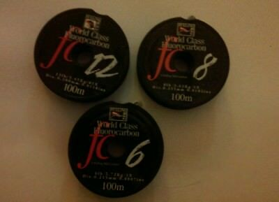 Fulling Mill world class fluorocarbon tippet / leader part used reels 6, 8 &12lb