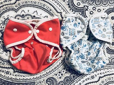 EUC Thirsties Duo Wrap Size 2 Cloth Diaper Covers Lot Of 2 Snaps